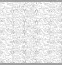 Knit white pattern vector
