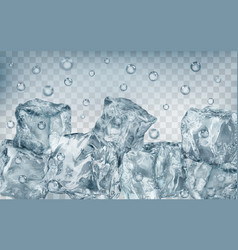 Many ice cubes under water vector