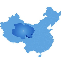 Map of Peoples Republic of China - Qinghai vector