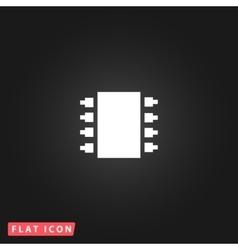 Microchip icon vector