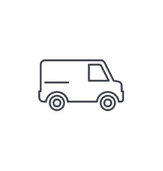 Minivan transportation car thin line icon vector