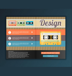Modern abstract brochure design for infographics vector