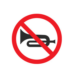 No horn sign image vector