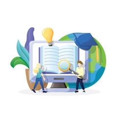 online education or e-learning vector image