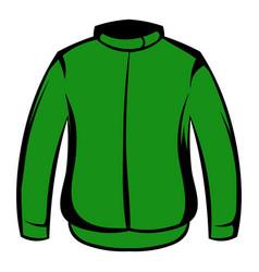 Paintball protective jacket icon cartoon vector