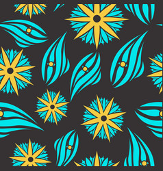 Pattern in flower style vector