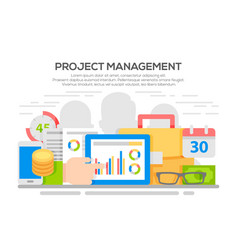 project management business concept vector image