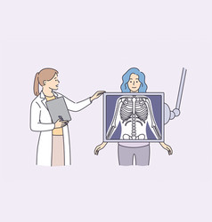 radiology and body scan in medicine concept vector image