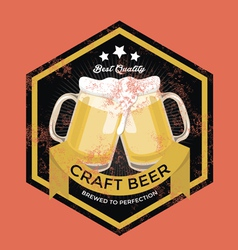 Retro Craft Beer Sign vector