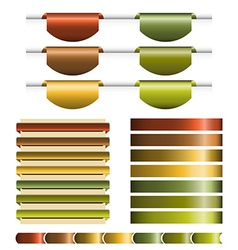 Ribbons Big Set vector image