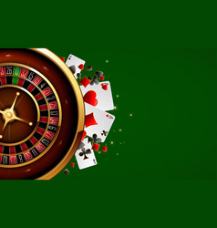 Roulette in the casino vector