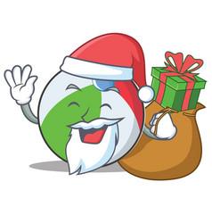 Santa ball character cartoon style vector
