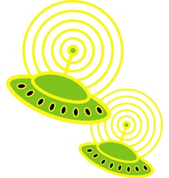 Saucers vector image