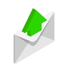 Sending email icon isometric 3d style vector