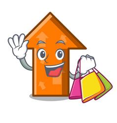 shopping arrow character cartoon style vector image