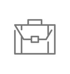 simple business briefcase and suitcase line icon vector image