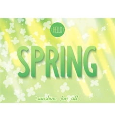 Spring inscription on nature background vector