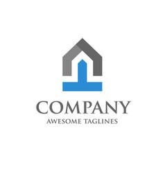start up of real estate logo design vector image