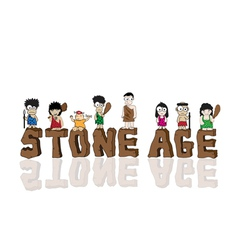 Stone age cartoon vector image