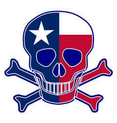 Texas flag skull vector