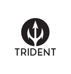 Trident logo inspiration vector