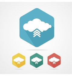 Upload from cloud icon set vector image