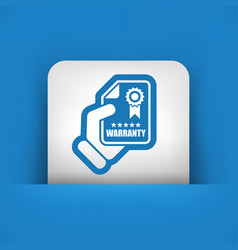 warranty icon vector image