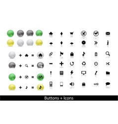web buttons pack vector image