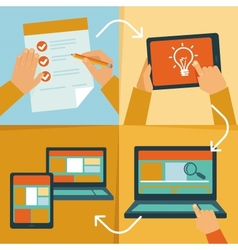 Web design process vector