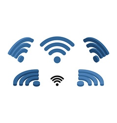 Wi fi sign isometric Logo for wireless network vector