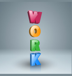 Work icon on the grey background vector