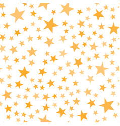 Yellow stars pattern basic cute irregular star vector