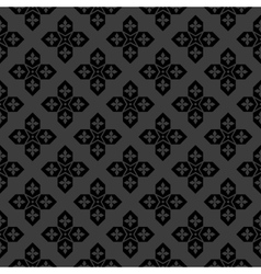 Arabic black and white pattern vector image
