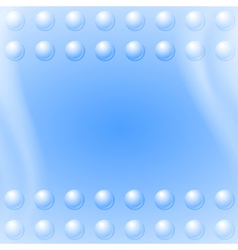 Bubbles on blue wave background vector image