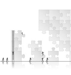 building a puzzle vector image vector image