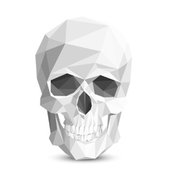 Colorful geometric low poly skull vector image vector image