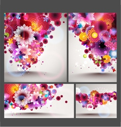 flower spring background set vector image vector image