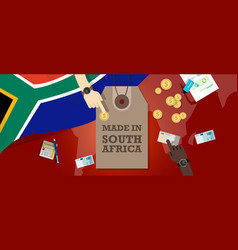 made in south africa price tag badge vector image