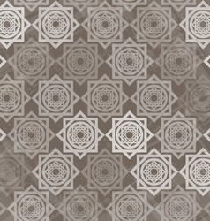 Seamless pattern with interlocking elements vector image