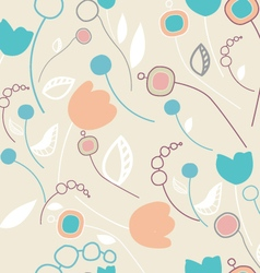 Simple colorful seamless flourish pattern vector image
