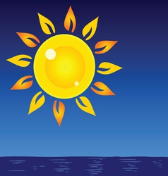 sun and sea background vector image