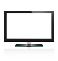 TV flat screen lcd vector image vector image