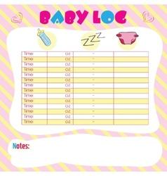 Baby log vector image