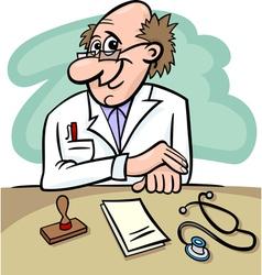 doctor in clinic cartoon vector image vector image