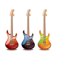 electric guitar isolated vector image