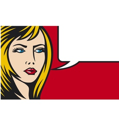 pop art woman vector image