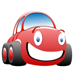 cheerful race car vector image vector image