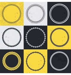 collection with circle frames vector image vector image