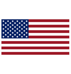 flag of the united states of america vector image