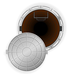 manhole 04 vector image vector image